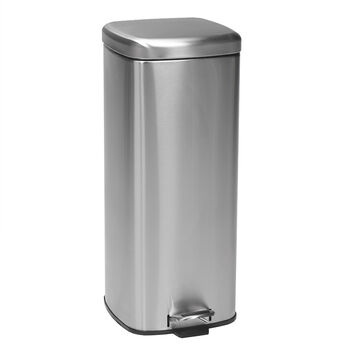 London Drugs Satin Garbage Can - Stainless Steel - 30L