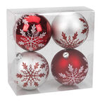 Winter Wishes Candy Cane Lane Ball Ornaments - 4 pack
