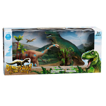 Dinosaur Century Set of 2 - Seismosaurus/Tyrannosaurus