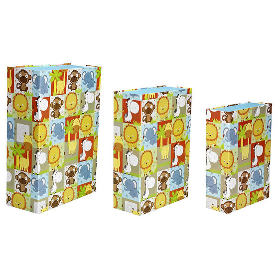 London Drugs Rectangular Kids Storage Boxes - Set Of 3 - Assorted
