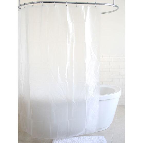 Splash Shimmer Vinyl Shower Curtain - Frosty