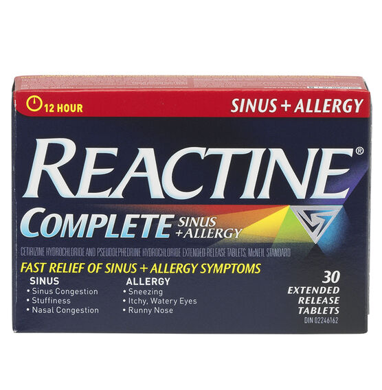 Reactine Allergy and Sinus Tabs - 30's