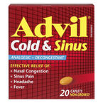 Advil Cold & Sinus Caplets - 20's