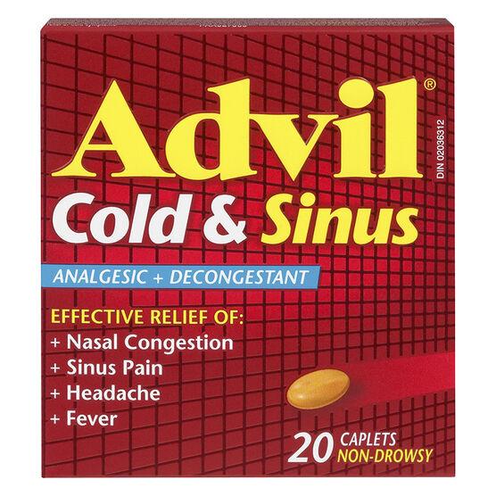 Advil Cold & Sinus Caplets - 20's