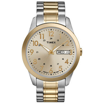 Timex Dress Men's Expansion Watch - Gold/Silver - 2M935