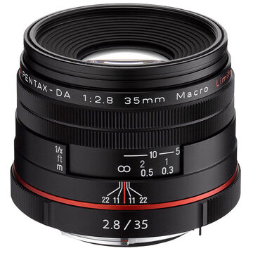 Pentax HD DA 35mm f2.8 Limited Lens- 21450 - Black