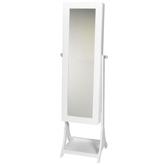 London Drugs Mirror Jewellery Cabinet - White - 41 x 38 x 153cm