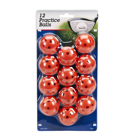 Intech Practice Golf Balls with Holes - Orange