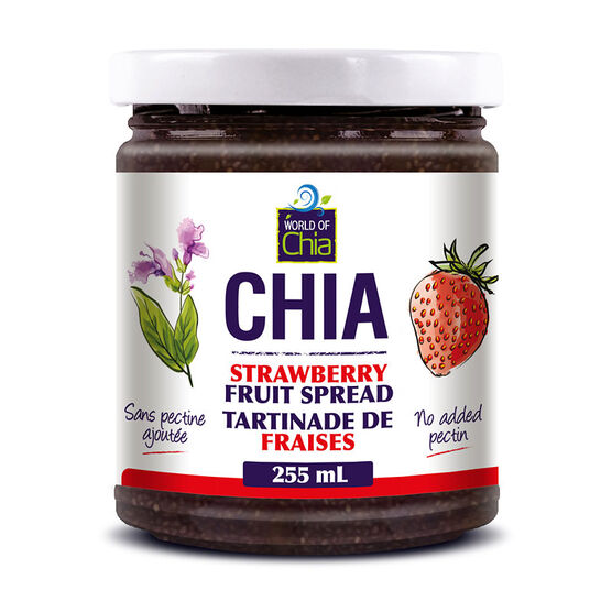 World of Chia Fruit Spread - Strawberry - 255ml