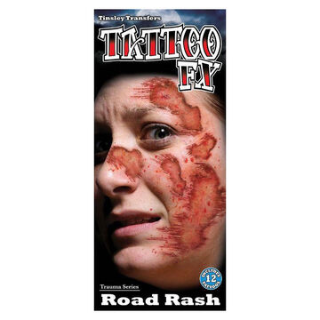 Halloween Trauma Temporary Tattoos - Road Rash