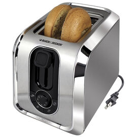 Black and Decker 2 Slice Toaster - Stainless Steel - TR1200C