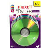 Maxell 16x Color DVD+R 4.7GB Storage Media - 5 pack
