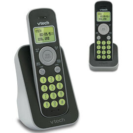 VTech FS DECT Cordless Phone with Caller ID - 2 Handset - FS621421 - Black