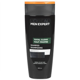 L'Oreal Men Total Clean Shampoo for Normal to Oily Hair - 385ml