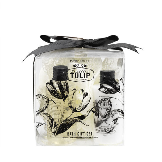 PurePleasure Bath Gift Set - Tahitian Tulip - 3 piece