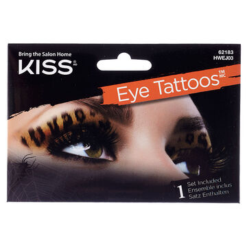 Kiss Halloween Eye Tattoo