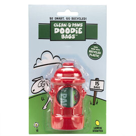Clean Paws Doodie Bag Dispenser - Fire Hydrant