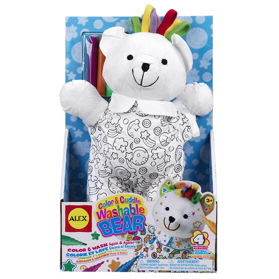 Alex Color & Cuddle Washable Bear