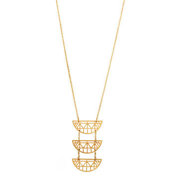 Haskell Mid Pendant Necklace - Gold