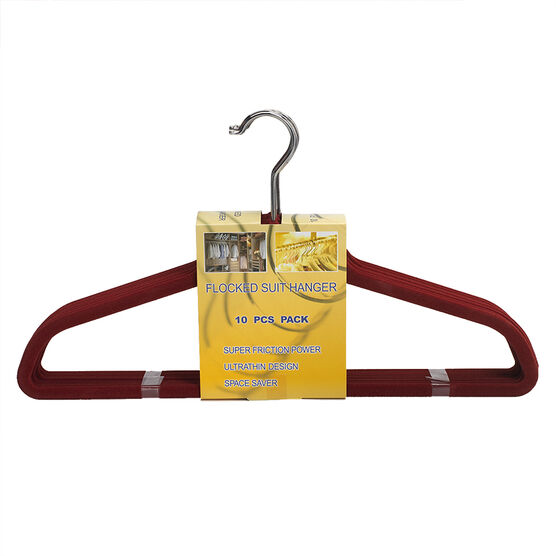 London Drugs Flocked Suit Hangers - Marsala - 10 pack