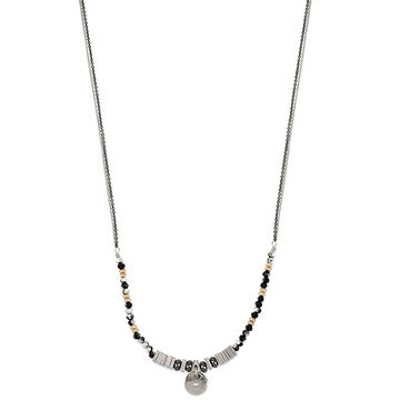 Kenneth Cole Two Tone Beaded Frontal Necklace - Jet
