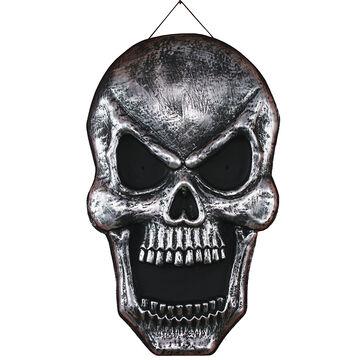Halloween Metal Rubbed Skull - 22-in