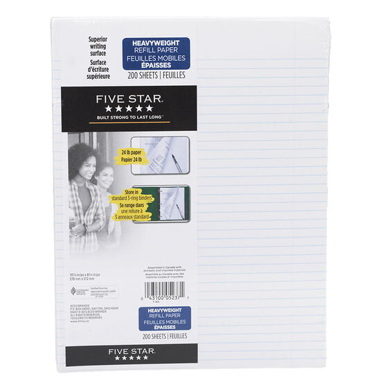 Mead Five Star Refill Paper - 200 sheets