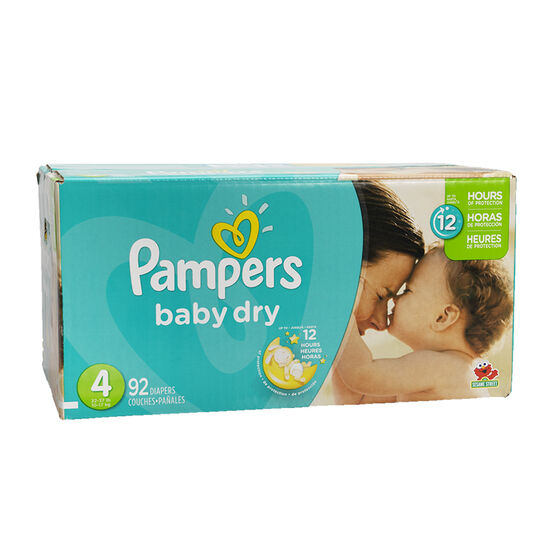 Pampers Baby Dry Diapers - Size 4 - 92's