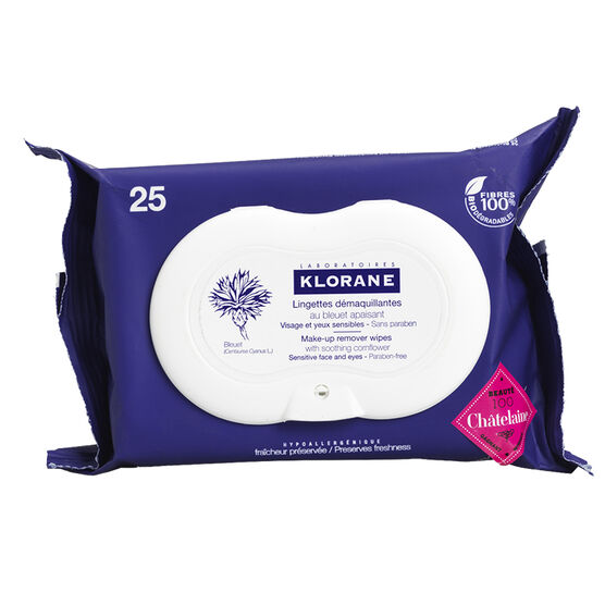 Klorane Biodegradable Make-up Remover Wipes - 25's