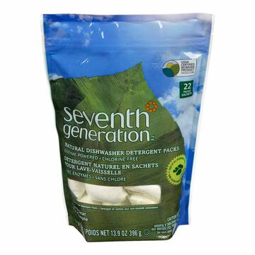 Seventh Generation Natural Dishwasher Detergent Pacs - Free & Clear - 22's