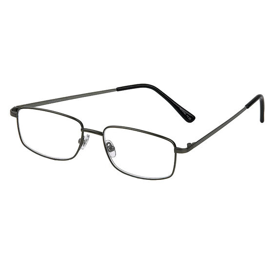 Foster Grant T10 Reading Glasses - Gunmetal - 1.75