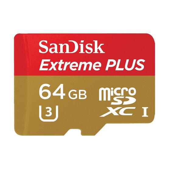 SanDisk Extreme PLUS 64 GB microSDXC Card - SDSQXSG-064G-CN6MA