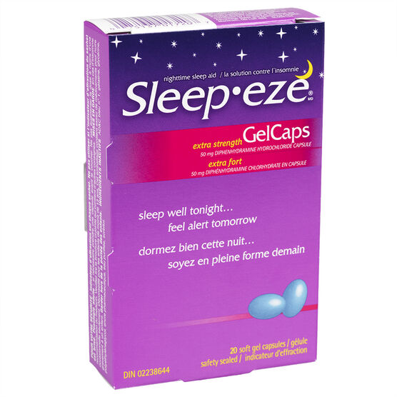 Sleep eze d extra strength gel capsules 20 39 s london drugs for Google sleep pod price