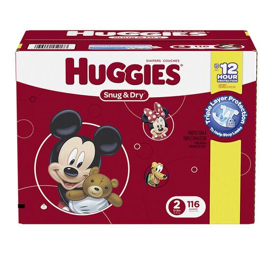 Huggies Snug & Dry Diapers - Size 2 - 116's