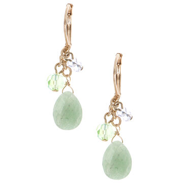 Lonna & Lilly Shaky Drop Earrings - Green