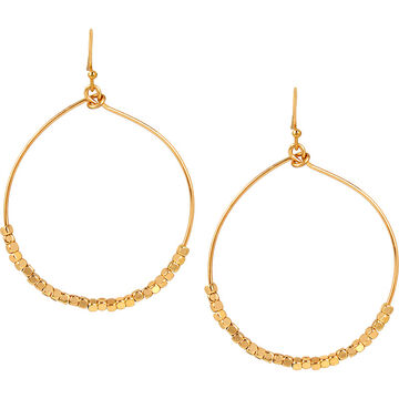 Haskell Beaded Hoop Earrings - Gold