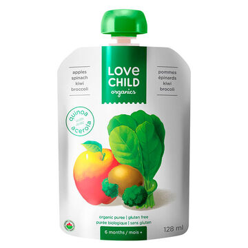 Love Child Apples Spinach Kiwi Broccoli - 128ml