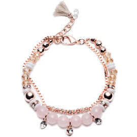 Lonna Lilly Bead Bracelet - Rose Gold