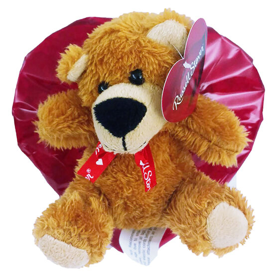 Russell Stover Foil Heart with Plush Bear - 99g