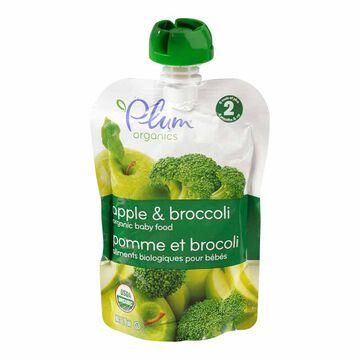Plum Organics - Apple Broccoli - 128ml