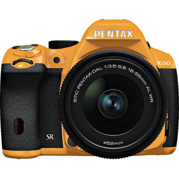 Pentax K-50 w/18-55 WR Kit - Orange Body