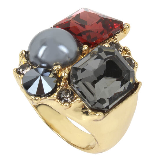 Kenneth Cole Ring - Burgundy/Gold