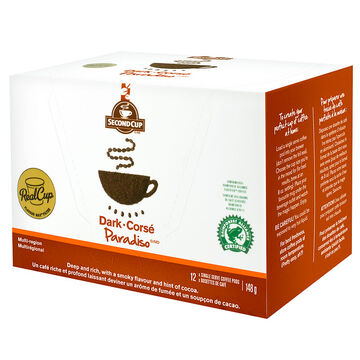 Second Cup Paradiso Coffee - Dark - 12 pack