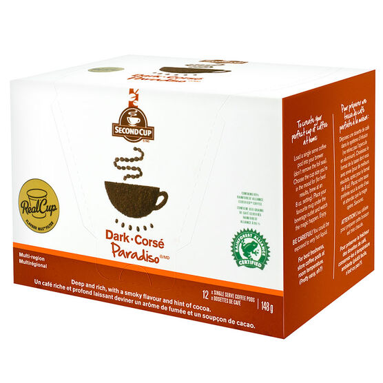 Second Cup Coffee - Dark Paradiso - 12 Servings