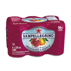 San Pellegrino Sparkling Beverage - Melograno E Arancia - 6 x 330ml