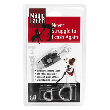 Magic Magnetic Latch Dog Collar - Black
