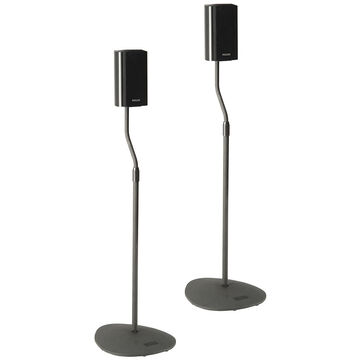 Sanus Satellite Speaker Stands - Pack of 2 - Black - HTB7B36