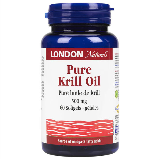 London Naturals Krill Oil Softgels - 500mg - 60's
