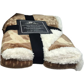 Sutton Place Microplush Fur Throw - Assorted