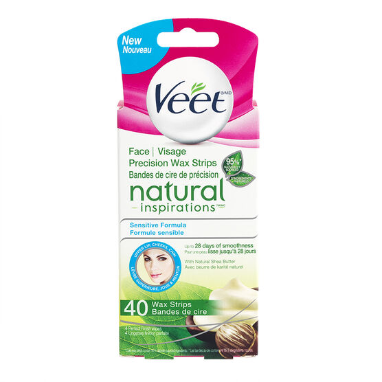 Veet Natural Inspiration Facial Wax Strips - Sensitive Formula - 40's